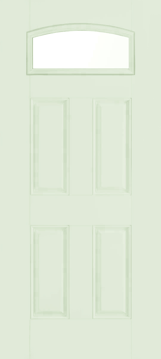 Smooth fiberglass insulated exterior doors 4 panel small lite cambertop